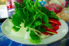 Le verdure per insalata disegna la Tailandia Fotografia Stock Libera da Diritti