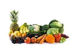 Le verdure sane dell'alimento hanno isolato isolato su fondo bianco, tagliato fotografia stock