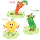 Le verdure si impegnano nella parte 2 di sport Illustrazione Vettoriale