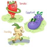 Le verdure si impegnano nella parte 1 di sport Royalty Illustrazione gratis