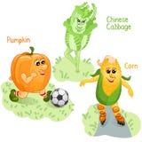 Le verdure si impegnano nella parte 4 di sport Illustrazione Vettoriale