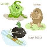 Le verdure si impegnano nella parte 5 di sport Illustrazione Vettoriale