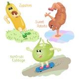 Le verdure si impegnano nella parte 6 di sport Illustrazione Vettoriale