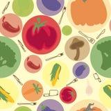 Le verdure vector il modello senza cuciture Fotografia Stock Libera da Diritti