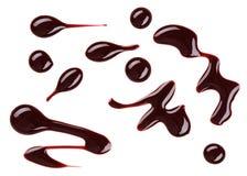 Le vernis à ongles de Brown (émail) relâche l'échantillon Image stock
