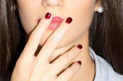 Le vernis à ongles, lèvres composent Image libre de droits