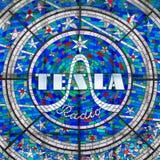 Le verre avec la radio de Tesla photos libres de droits