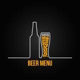 Le verre de bouteille à bière daignent fond illustration libre de droits