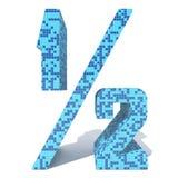 Le verre en céramique de mosaïque carrée foncée légère bleue couvre de tuiles l'illustration de police de la salle de bains Photographie stock libre de droits