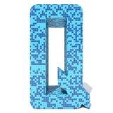 Le verre en céramique de mosaïque carrée foncée légère bleue couvre de tuiles la police Image libre de droits
