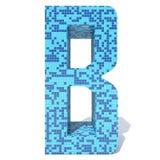 Le verre en céramique de mosaïque carrée foncée légère bleue couvre de tuiles la police Image stock