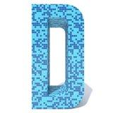 Le verre en céramique de mosaïque carrée foncée légère bleue couvre de tuiles la police Photos stock