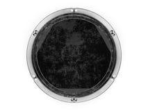 Le verre et le métal entourent l'élément graphique d'isolement sur un backg blanc Photographie stock libre de droits