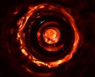 Le verre a fait des objets avec la photographie de fond de lumières rouges Photographie stock