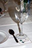 Le verre sur la table Photo stock