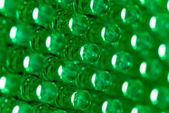 Le vert a abouti le panneau d'affichage de diode photographie stock libre de droits