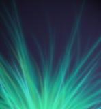 Le vert abstrait rayonne le fond Photo libre de droits