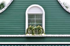 Le vert a décoré l'architecture Images libres de droits