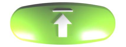 Le vert a déformé le TÉLÉCHARGEMENT arrondi de rectangle - illustration du rendu 3D illustration stock