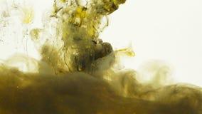 Le vert de Dirtly a coloré le mélange liquide sous l'eau banque de vidéos