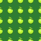 Le vert de textile d'illustration de vecteur de fond d'Apple porte des fruits modèle sans couture Image libre de droits