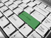 Le vert entrent Images libres de droits