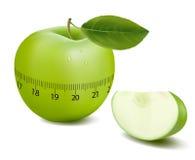 Le vert folâtre la pomme. Vecteur. Image libre de droits
