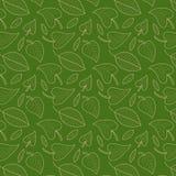 Le vert frais laisse à vecteur le modèle sans couture Fond de feuillage Texture sans fin utilisée pour le papier peint, impressio Photographie stock libre de droits