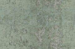Le vert grisâtre superficiel par les agents et a affligé le mur texturisé de fond Photo libre de droits