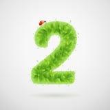Le vert laisse l'alphabet avec la coccinelle Été d'écologie Numéro 2 Photos stock