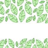 Le vert laisse la trame Ornement pour la copie, carte, papier peint, bannière illustration de vecteur