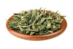 le vert laisse le thé Image libre de droits