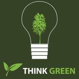 le vert pensent Images stock