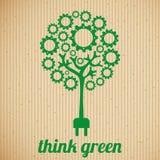 le vert pensent Photos stock