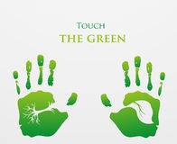 le vert pensent Concept d'écologie illustration libre de droits