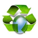 Le vert réutilisent des flèches Images libres de droits