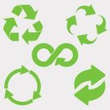 Le vert réutilisent le graphisme Photo stock