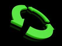 Le vert réutilisent le symbole illustration de vecteur