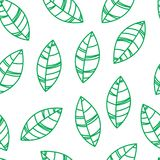 Le vert sans joint laisse la configuration Ornement pour la copie, carte, papier peint, bannière illustration de vecteur