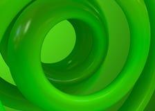 Le vert se développe en spirales fond abstrait Images stock