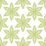 Le vert simple fleurit le modèle sans couture Images libres de droits