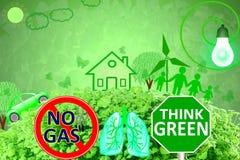 Le vert vivant pensent que le vert vert d'amour disparaissent nature verte d'abrégé sur concept à l'arrière-plan vert Photos stock