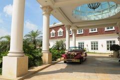 Le vestibule d'un hôtel de luxe Photo stock