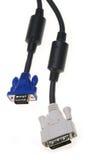le VGA de dvi de câble Image stock
