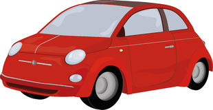 Le véhicule rouge Image stock