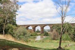 Le viaduc 1860 de Malmsbury est de 152 mètres longs et faits de remplaçants Photo stock