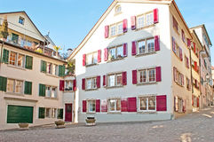 Le vie calme di Zurigo Immagine Stock