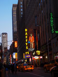 Sera occupata nel Times Square New York Fotografia Stock