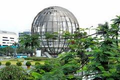 Le vie delle città filippine Paesaggio della città Immagine Stock
