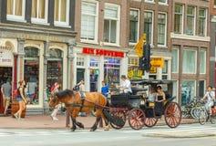 Le vie di Amsterdam Fotografia Stock Libera da Diritti